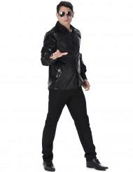 Zwart disco shirt met lovertjesprint voor mannen