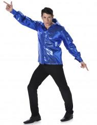 Blauw disco overhemd voor heren