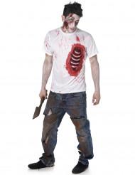 Zombie kostuum met uitstekende ribben