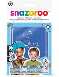 6 Snazaroo™ zelfklevende stencils