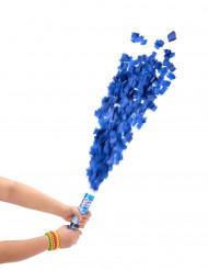 Rond blauw confettikanon 20 cm
