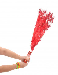 Rode confetti kanon 20 cm