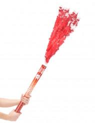 Rood confettikanon 60 cm