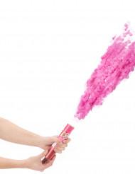 Roze confettikanon 20 cm