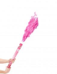 Roze confettikanon 60 cm