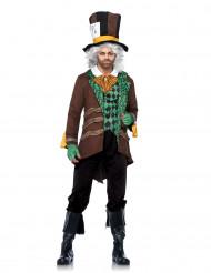 Bruine en groene hoedenmaker outfit voor mannen