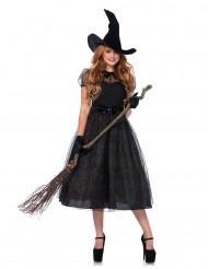 Zwarte heks van de nacht kostuum voor dames