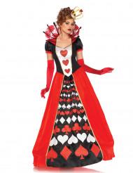 Lang harten koningin kostuum voor vrouwen