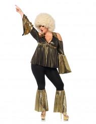 Disco diva kostuum voor vrouwen - Plus Size