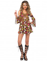 Bloemen hippiekostuum voor vrouwen