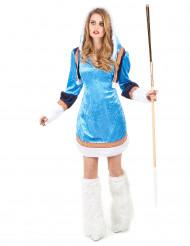 Blauwe sexy eskimo outfit voor vrouwen