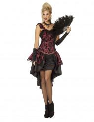 Sexy burlesque kostuum voor vrouwen