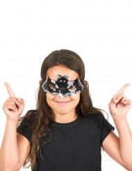 Lovertjes vleermuis masker voor kinderen