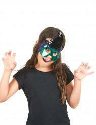 Groen heksenmasker voor kinderen