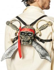 Piratenschedel met zwaarden
