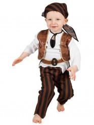 Bruin piraten baby kostuum