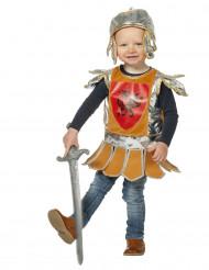 Klein oranje ridderkostuum voor baby