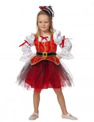Rood tutu piratenkostuum voor meisjes