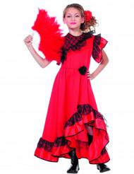 Rood Spaanse danseres kostuum voor meisjes