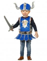 Klein blauw ridderkostuum voor baby