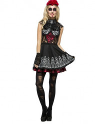 Sexy skelet Dia de los Muertos kostuum voor vrouwen