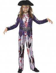 Zombie piraat kostuum voor meisjes