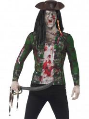 Zombie piraat fopshirt voor volwassenen