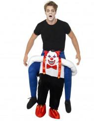 Man op duistere clown kostuum voor volwassenen