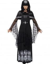 Zwarte magie minnares kostuum voor vrouwen