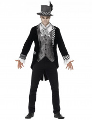 Luxe duistere hoedenmaker kostuum voor mannen