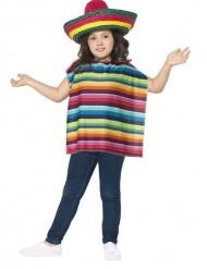Mexicaanse sombrero en poncho voor kinderen