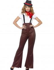Sexy rood gangster kostuum voor vrouwen