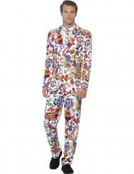 Veelkleurig Mr. Groovy kostuum voor mannen