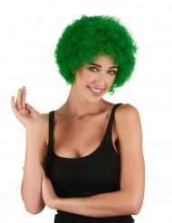Groene afro clownspruik voor volwassenen