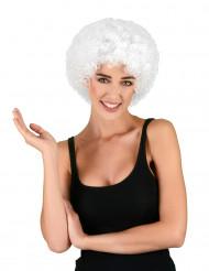 Witte afro clownspruik voor volwassenen
