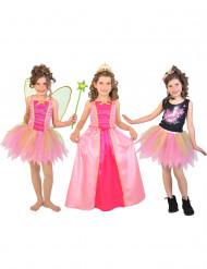 3 in 1 fee, prinses en popster kostuum voor meisjes