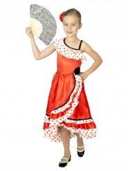 Rode Spaanse danseres jurk met stippen voor meisjes