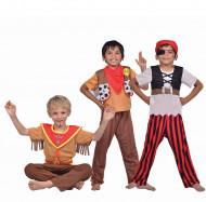 3 in 1 piraten, sheriff en indiaan kostuum