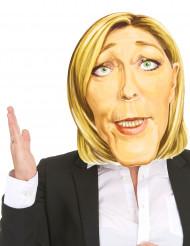 Kartonnen Marine Le Pen masker voor volwassenen