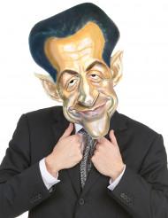 Kartonnen Nicolas Sarkozy masker voor volwassenen