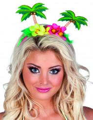 Palmboom Hawaii haarband voor volwassenen
