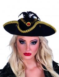 Goud-zwart piraten hoed voor vrouwen