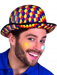 Multikleurige clown bolhoed voor volwassenen
