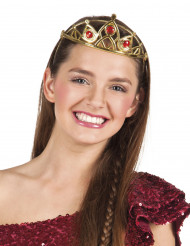 Goudkleurige prinsessenkroon voor volwassenen