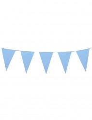 Grote lichtblauwe vlaggenslinger