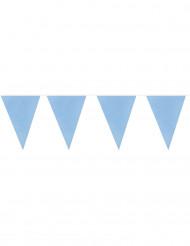 Lichtblauwe vlaggenslinger met 20 vlaggen