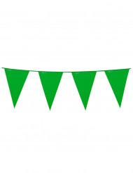 Groene vlaggenslinger