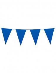 Blauwe vlaggenslinger