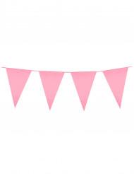 Roze vlaggenslinger 10 m
