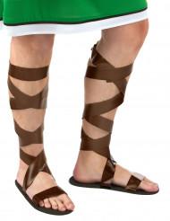 Bruine Romeinse sandalen voor volwassenen